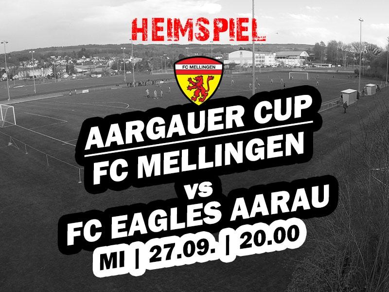 1. Mannschaft: Aargauer Cup - Heimspiel gegen Eagles Aarau