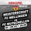 Heimspiel gegen den FC Mutschellen
