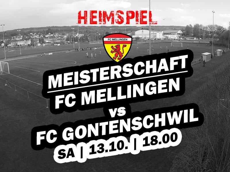 1. Mannschaft: Heimspiel gegen den FC Gontenschwil