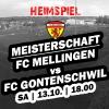 Heimspiel gegen den FC Gontenschwil