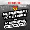 Heimspiel gegen den FC Niederwil