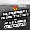 12. Runde - Auswärtsspiel gegen Gontenschwil