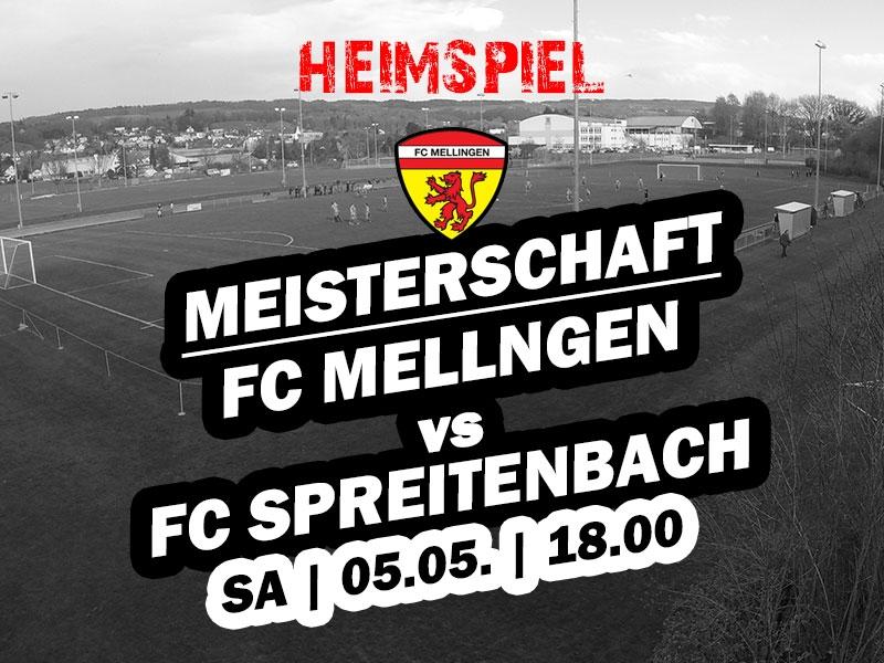 1. Mannschaft: 20. Runde - Heimspiel gegen Spreitenbach