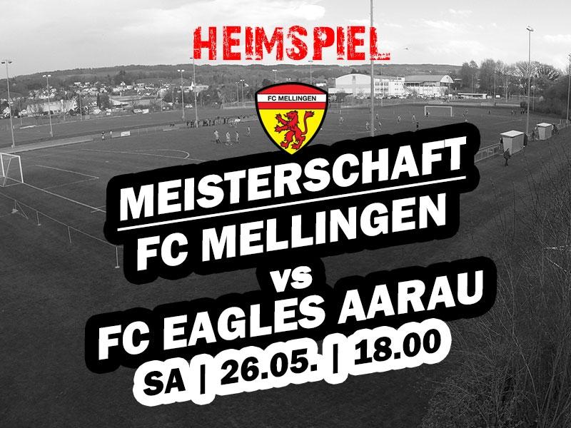 1. Mannschaft: 23. Runde - Heimspiel gegen die Eagles aus Aarau