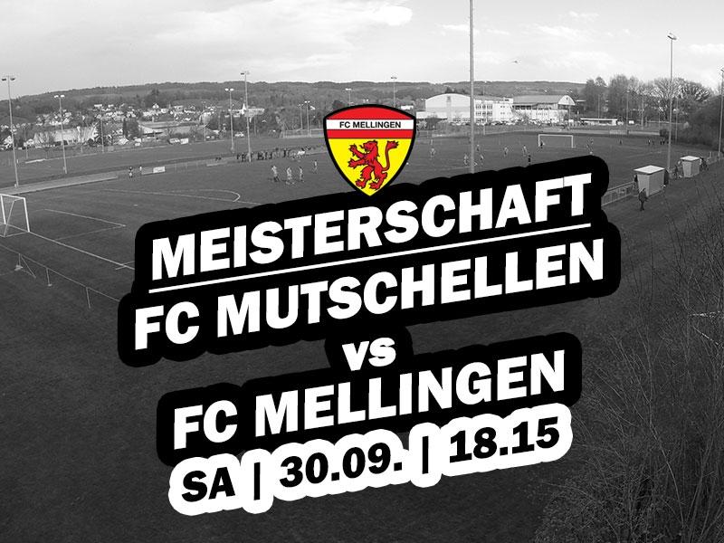 1. Mannschaft: 8. Runde - Auswärtsspiel beim FC Mutschellen