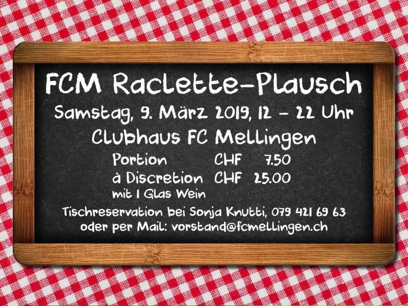 FCM Raclette-Plausch