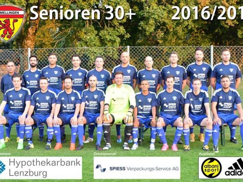 Senioren 30+: Mellingen gewinnt Hitchcock-Cupspiel
